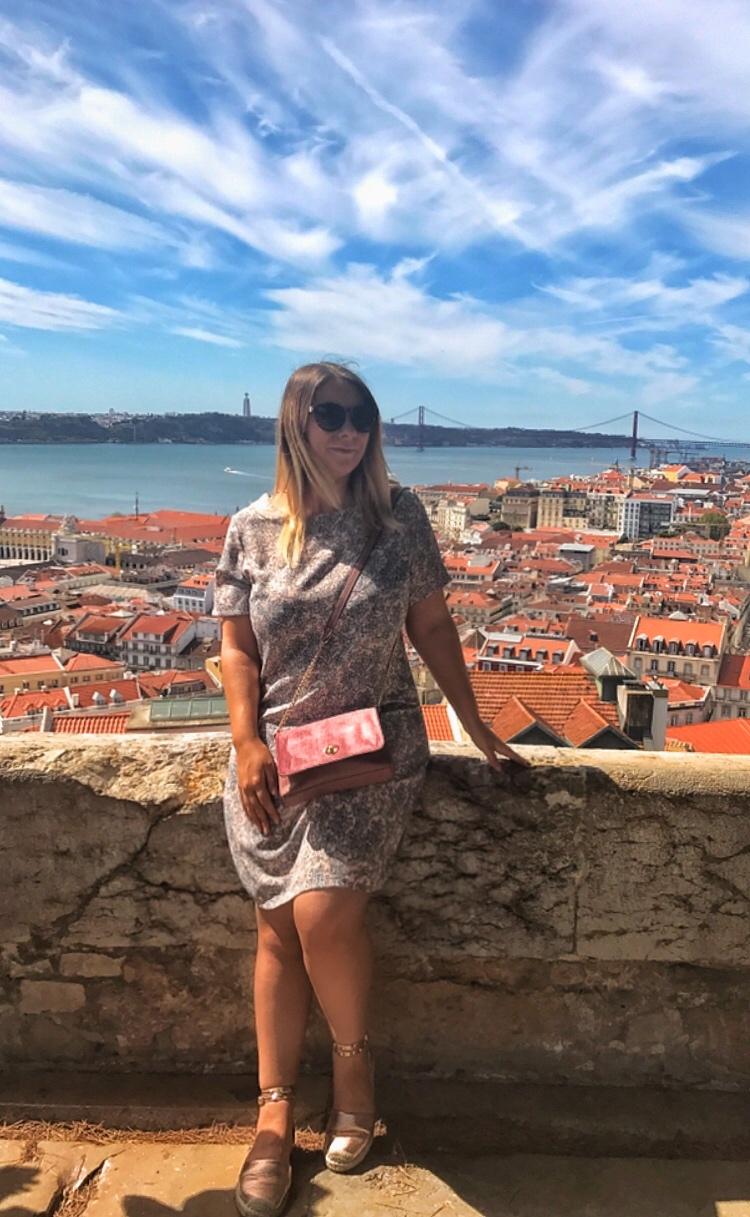 views from Castelo de Sao Jorge to 25 de Abril Bridge