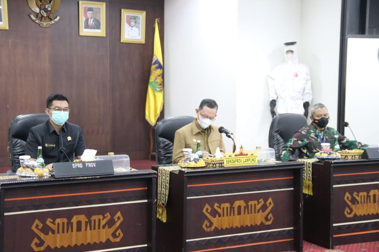 Pemerintah Provinsi Lampung Serahkan Bantuan Kepada Keluarga Korban Kecelakaan Pesawat Sriwijaya Air SJ-182