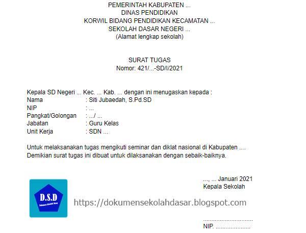 surat tugas mengikuti seminar dan diklat