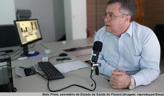 www.seuguara.com.br/Beto Preto/secretário de Saúde do Estado do Paraná/hidroxicloroquina/