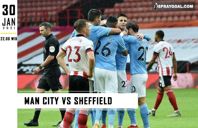 Prediksi Skor Man City Vs Sheffield Sabtu 30 Januari 2021