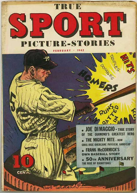 Sport magazine featuring Joe DiMaggio, February 1942 worldwartwo.filminspector.com