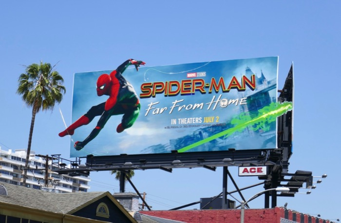 Spider-Man Far From Home film billboard