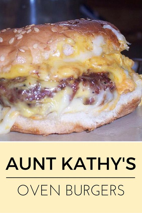 Aunt Kathy's Oven Burgers #recipes #dinnerrecipes #dishesrecipes #dinnerdishes #dinnerdishesrecipes #food #foodporn #healthy #yummy #instafood #foodie #delicious #dinner #breakfast #dessert #lunch #vegan #cake #eatclean #homemade #diet #healthyfood #cleaneating #foodstagram