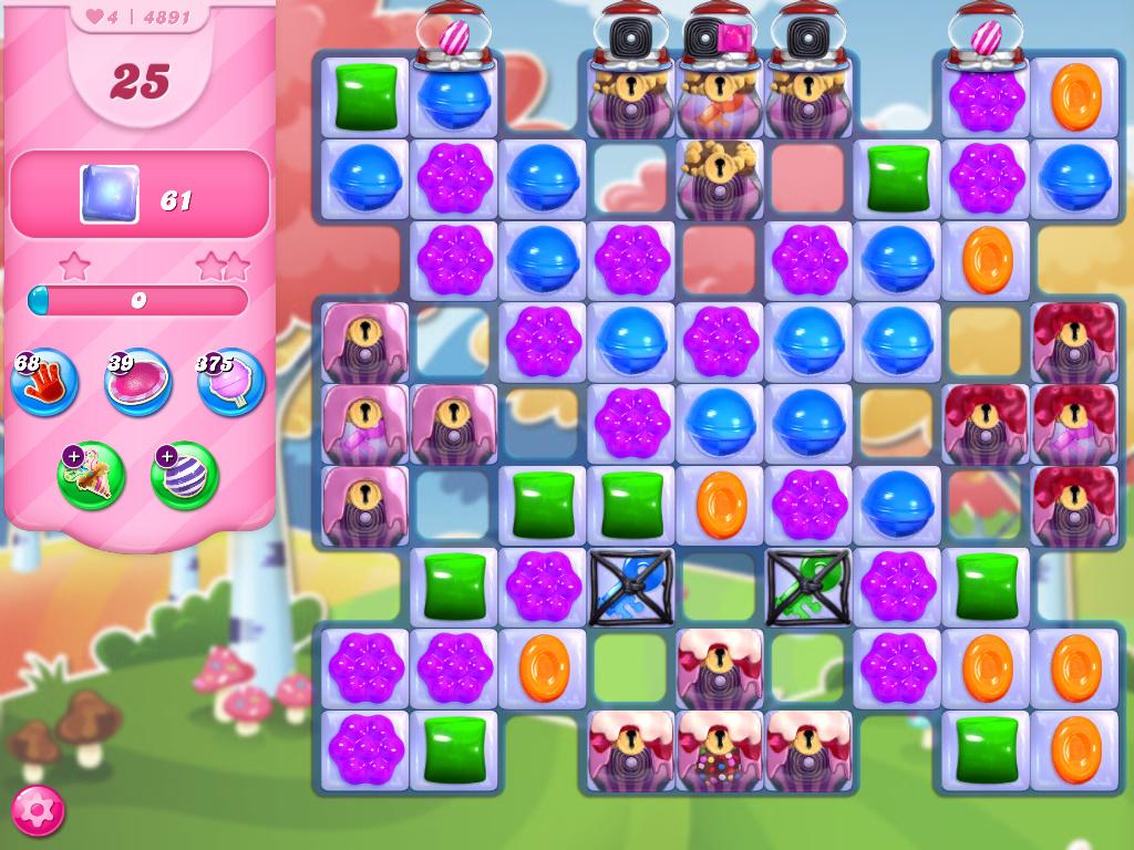 Candy Crush Saga level 4891