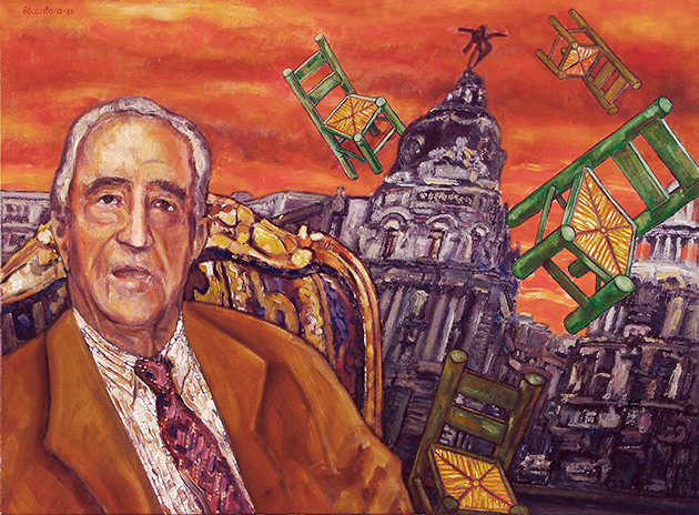 Justo Alonso-Óleo sobre lienzo. 2002-Autor: Jesus Alcantara