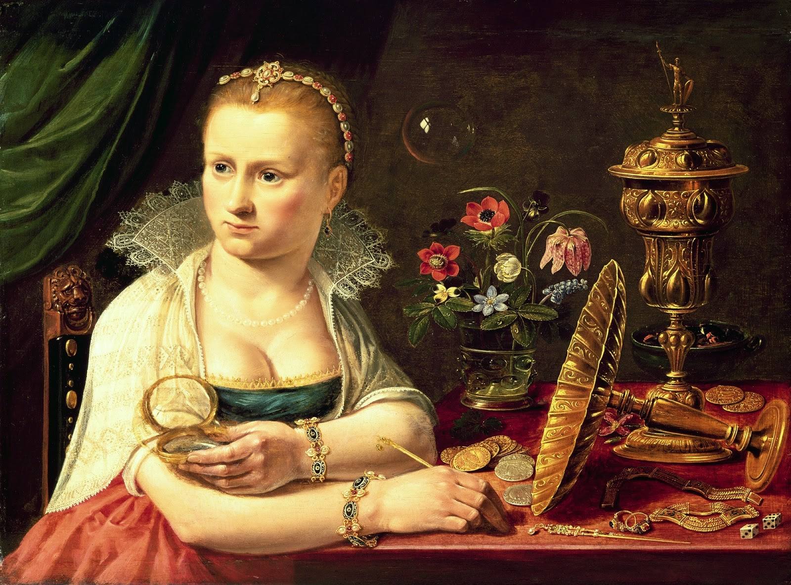 A Vanitas Portrait of a Lady (autoportrait supposé) (1613-1620), Clara Peeters
