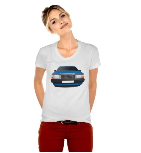 Volvo 740 t-shirt t-troja woman