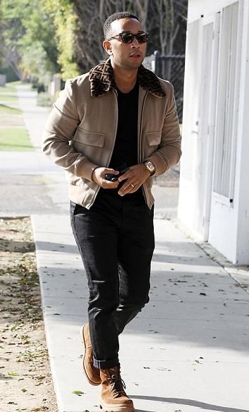 Sexiest man alive, John Legend looks hunky in Fendi shearling jacket