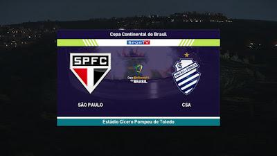 PES 2021 Scoreboard Copa do Brasil