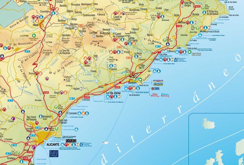 espanha mapa praias Mapas de Benidorm   Espanha | MapasBlog espanha mapa praias
