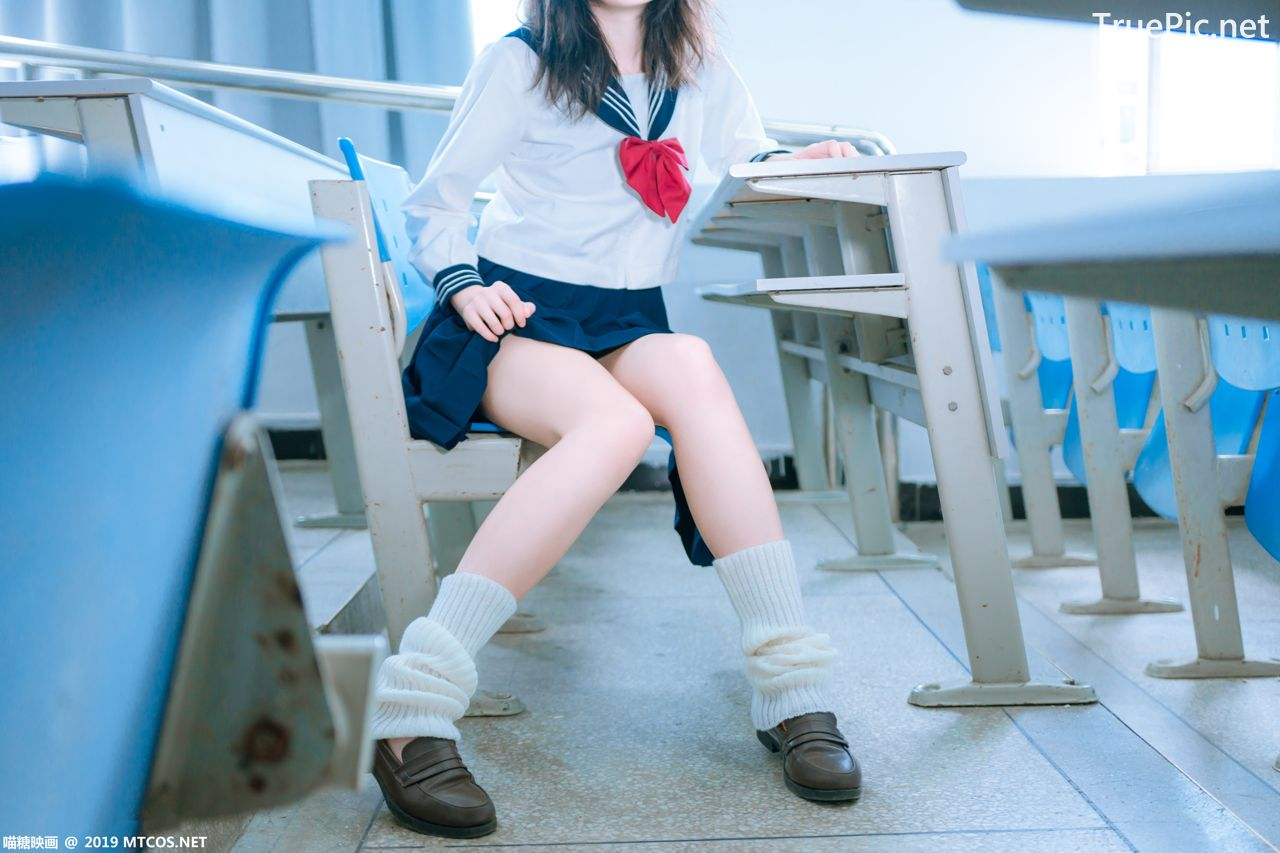 Image MTCos 喵糖映画 Vol.014 – Chinese Cute Model With Japanese School Uniform - TruePic.net- Picture-10