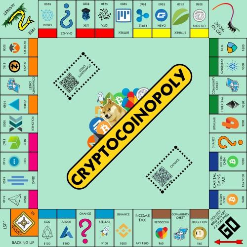 juego de mesa cryptocoinopoly
