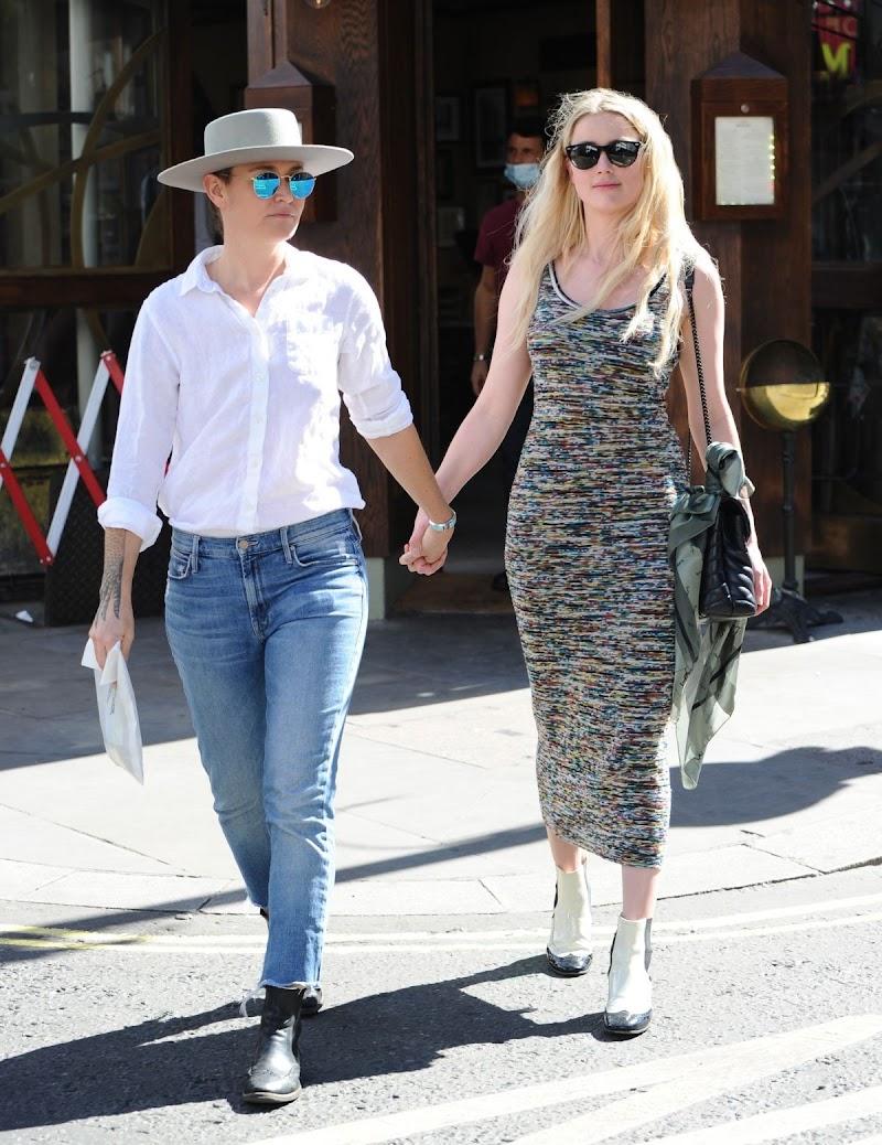 Bianca Butti, Amber Heard Clicked  Outside in London 30 Jul -2020