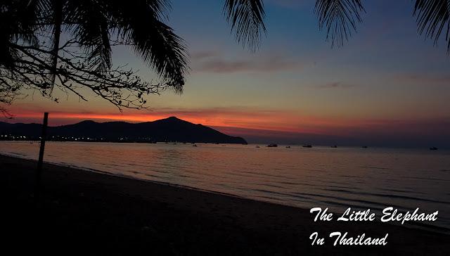 Sunset at Bang Saray Thailand