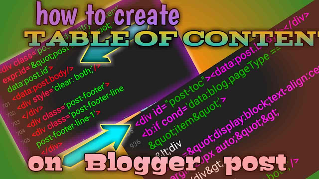 Make content table