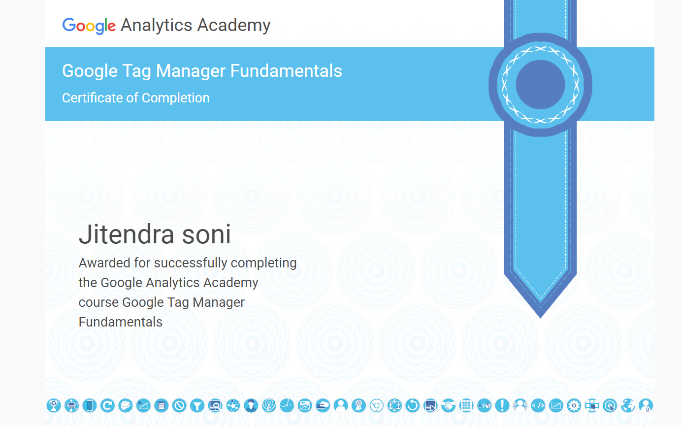 Jitendra Soni - Sitecore CXM: Google Tag Manager Certification -Take ...