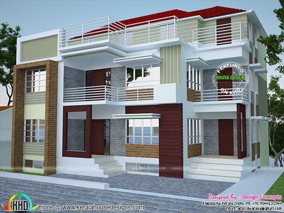 Multi Family 4 Plex Home Plan Kerala Home Design And
