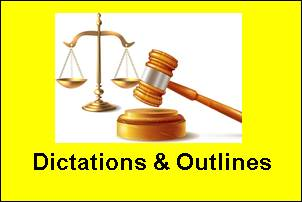 Daily Court Dictations & Outlines June 2021