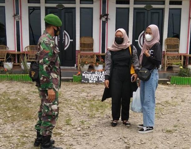 Gakplin Didolok Pardamean, Personel Jajaran Kodim 0207/Simalungun Himbau Masayarakat Patuhi Protkes