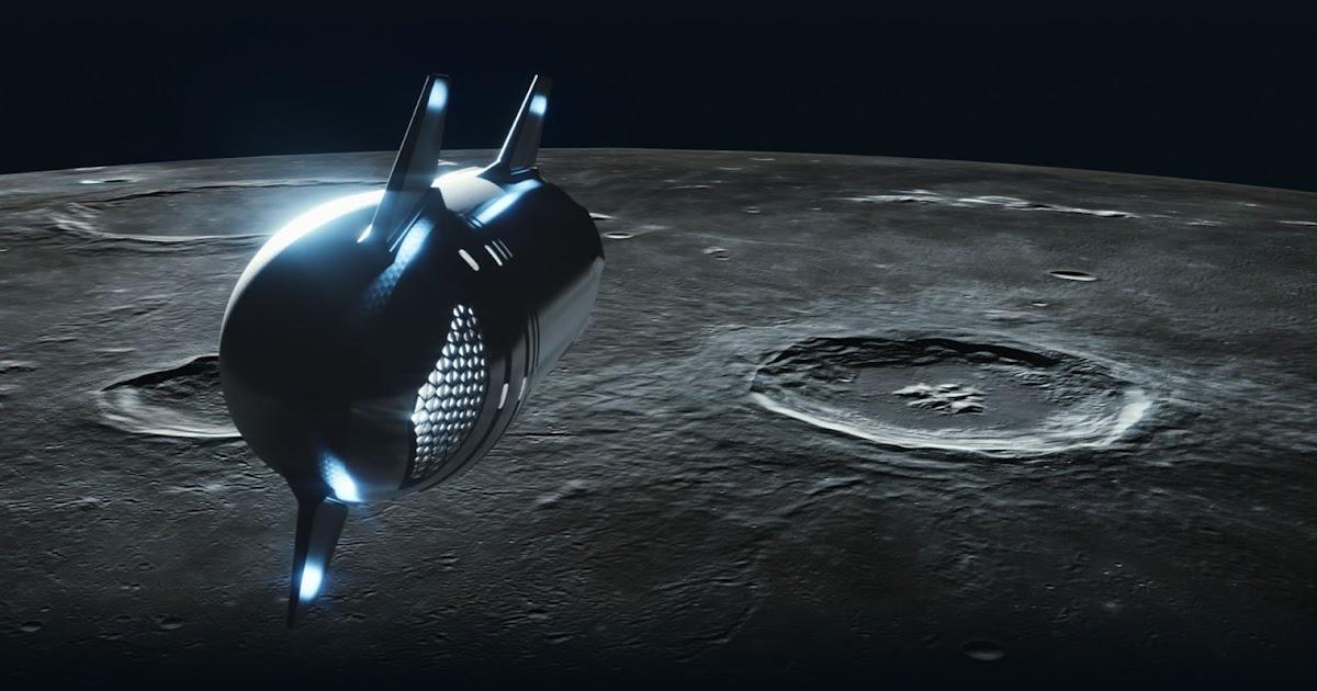 Updated design of #dearMoon Starship (2021)