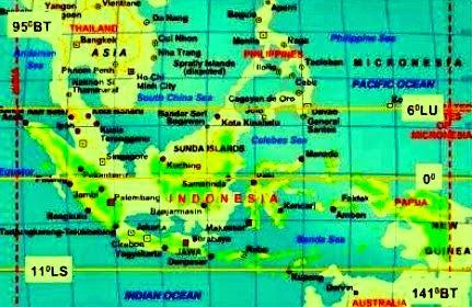 Pengaruh Letak Astronomi Indonesia dan Garis Khatulistiwa Indonesia