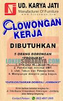Lowongan Kerja Surabaya Terbaru di UD. Karya Jati Oktober 2019