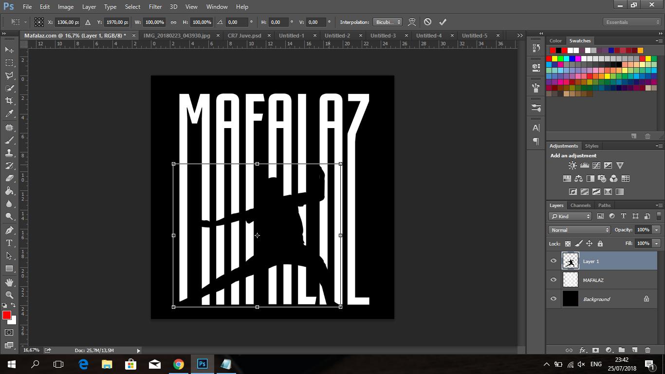 Cara Membuat Tulisan CRIS7ANO Ala Juventus Di Photoshop - 14