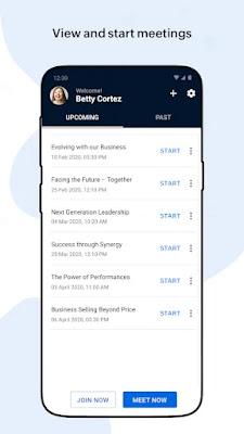 Screenshot Zoho Meeting - Apcoid