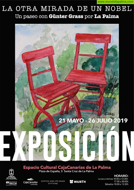 El Cabildo mantiene viva la huella en La Palma del Nobel de Literatura Günter Grass con una exposición de sus obras plásticas