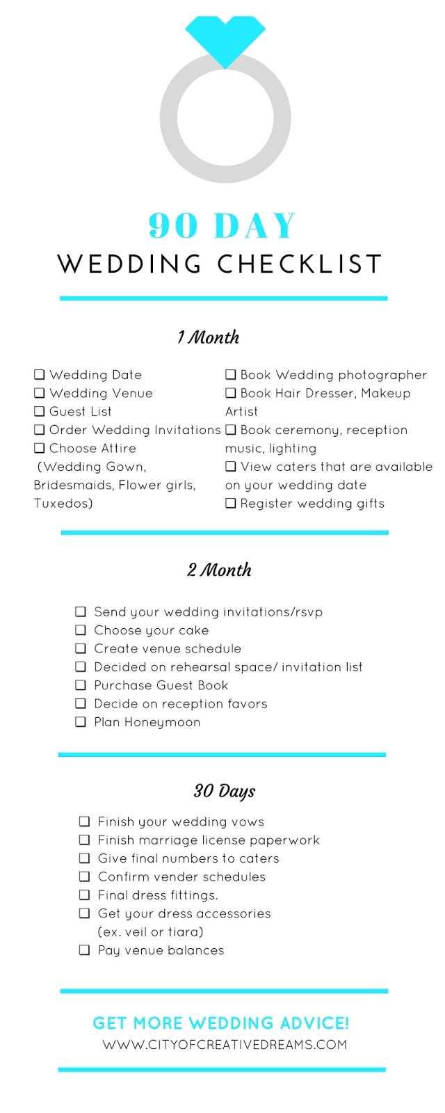 How to Plan A Wedding in 90 Days - City of Creative Dreams