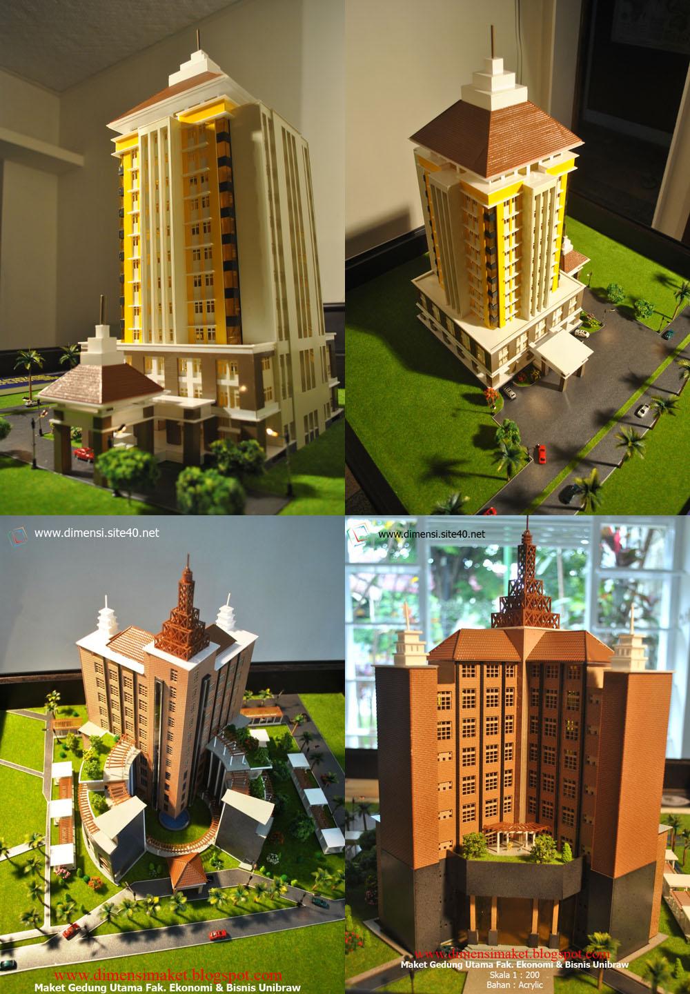 Pameran Teknik Arsitektur UNINDRA PGRI Maket Miniatur ...
