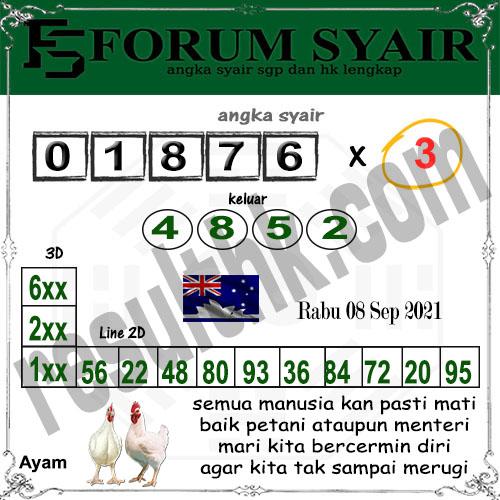 Forum syair Sidney Rabu 08 September 2021