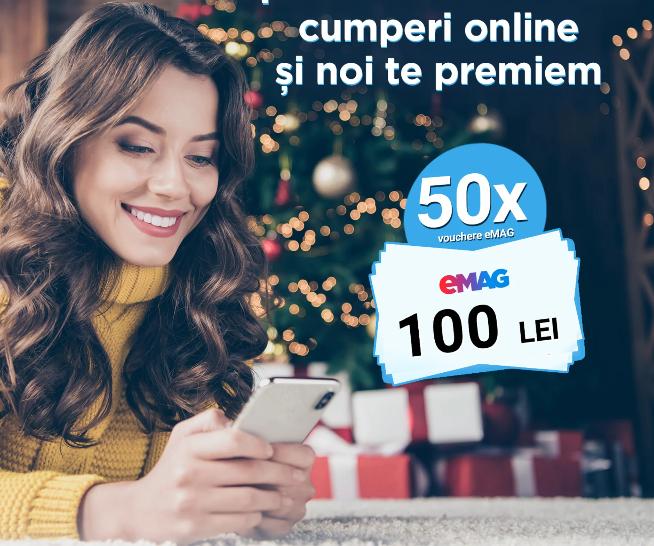 Concurs - Castiga 50 de vouchere eMAG de 100 lei - concursuri - online