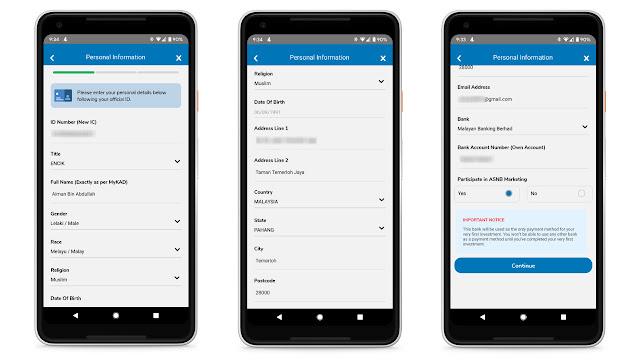 cara buka akaun ASB secara online menggunakan aplikasi myasnb