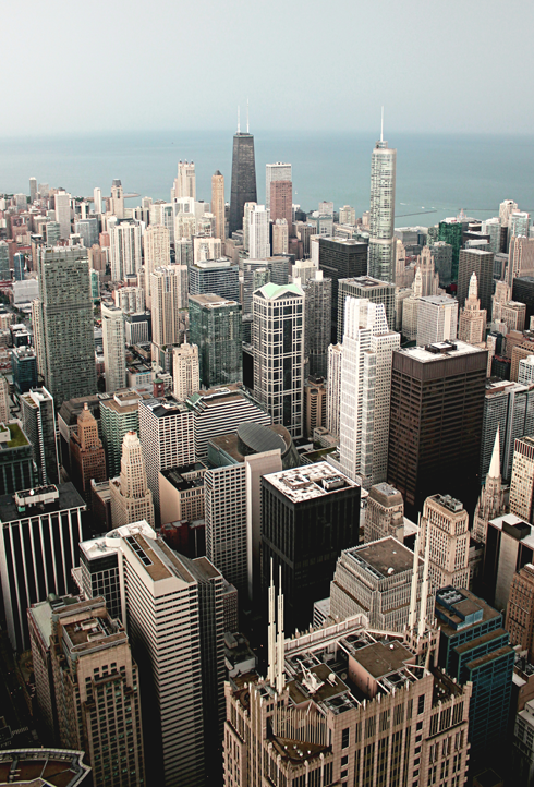 Skydeck View Willis Tower Chicago