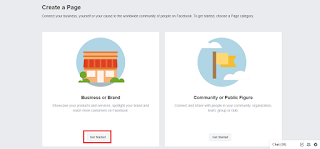 Business or Brand, Create a Facebook Page
