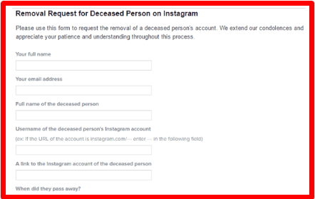 How to delete someones instagram 1 open instagram account elimination demand url on your internet browser ccuart Image collections