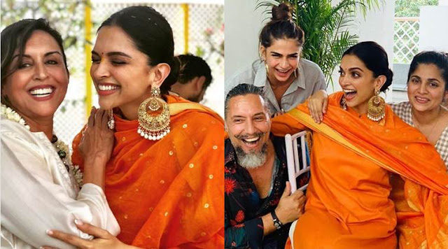 Deepika Padukone in Antique Chandbalis