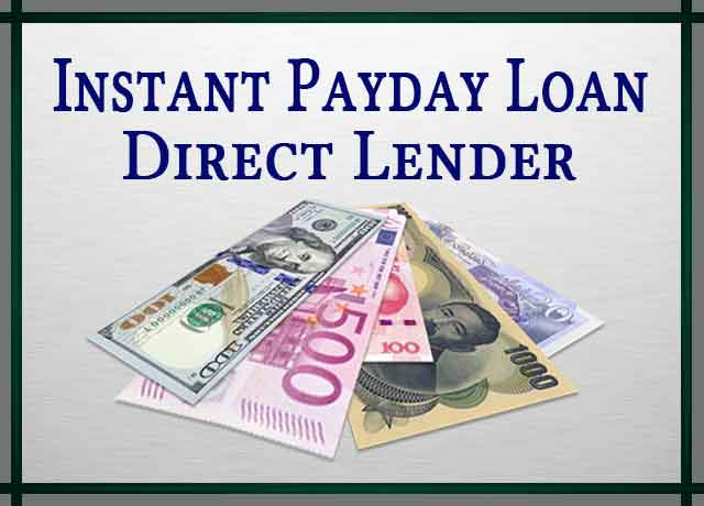 Instant Payday Loan Direct Lender