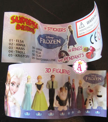Список и картинка всей серии фигурок Frozen из Surprise Drinks