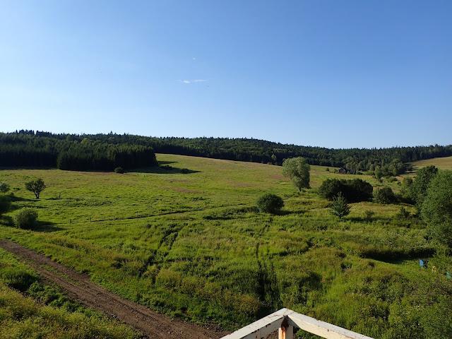 Krajobraz pogranicza Bieszczadów i Beskidu Niskiego