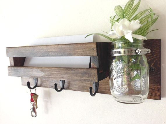 mail organizer and key rack