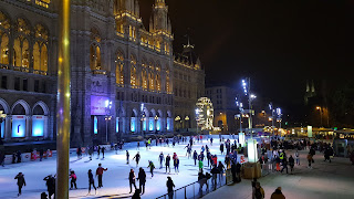 Ice Skating at Night in Vienna