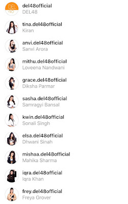 Unconfirmed DEL48 members Instagram accounts leaked