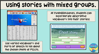 You can use online story sites for other speech/language goals, too!