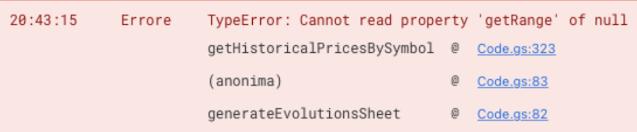 TypeError: Cannot read property 'getRange' of null