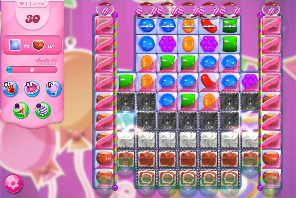 Candy Crush Saga level 5998