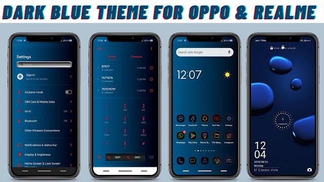 Chủ đề màu xanh đậm cho Oppo và Realme || Chủ đề đen tối || Chủ đề Oppo || Chủ đề Realme ||