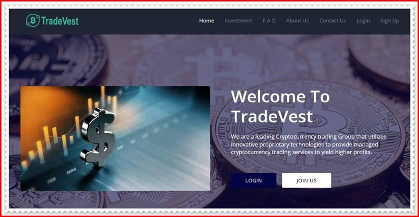 Мошеннический сайт tradevest.org – Отзывы, развод, платит или лохотрон? Мошенники